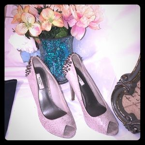 Women's Vera wang studded tan heels size 8 med